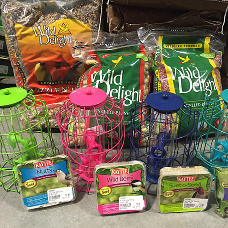 Bird Feeders, Homes & Feed